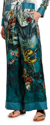 F.R.S For Restless Sleepers Paradise Wide-Leg Silk Pants