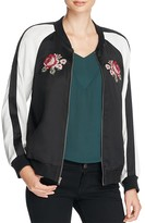 Cupcakes And Cashmere Rose Embroidered Satin Bomber Jacket