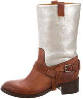 Ralph Lauren Metallic Mid-Calf Boots