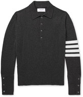 Thom Browne Striped Cashmere Polo Shirt