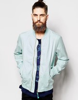Scotch & Soda Bomber Jacket In Garment Dye Cotton