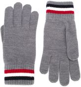 Moncler logo patch gloves - men - Virgin Wool - M