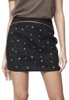 MinkPink Runaways Studded Suede Skirt