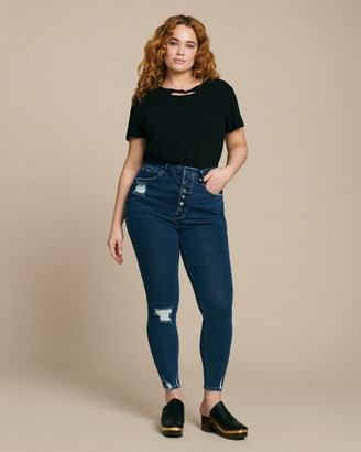 Good American Good Waist with Exposed Buttons