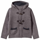 Mayoral Grey Knit Duffle Cardigan