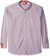 Izod Men's Big and Tall Essential Tattersall Long Sleeve Shirt