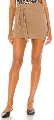 Lovers + Friends Justina Tie Mini Skirt