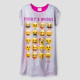 Emoji Girls' Nightgown Full Body Sleepwear - Grey