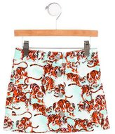 Kenzo Girls' Tiger Print A-Line Skirt w/ Tags