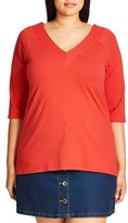 City Chic Plus Size Women's V-Neck Top