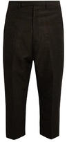 Rick Owens Slim-leg jacquard cropped trousers
