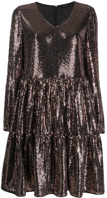Steffen Schraut Sequin Embellished Flared Dress