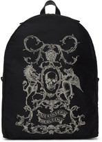 Alexander McQueen Black 'Coat of Arms' Backpack
