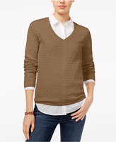 Tommy Hilfiger Ivy Cable-Knit Sweater, Only at Macy's