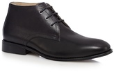 Jeff Banks Black Grained Leather Chukka Boots