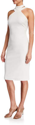 Bebe Halter-Neck Bodycon Dress