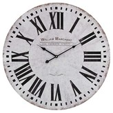 Lazy Susan 24 in. White, Black Wall Clock