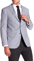 David Donahue Connor Blue Glen Plaid Wool Classic Fit Sport Coat
