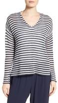 Eileen Fisher Women's Stripe Linen Knit Boxy Sweater