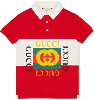 Gucci Kids Children's polo with Gucci logo
