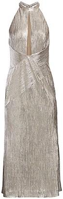 Galvan Peek-A-Boo Metallic Cocktail Dress