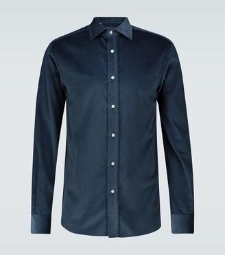Ralph Lauren Purple Label Corduroy long-sleeved shirt