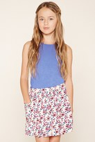 Forever 21 Girls Floral Print Skirt (Kids)