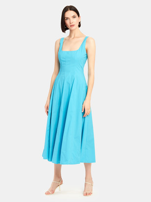 STAUD Wells Sleeveless Midi Dress