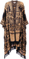 Etro embroidered scarf cape - women - Silk/Cotton/Viscose - One Size
