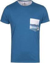 Franklin & Marshall Blue Sapphire Crew Neck Pocket T-shirt