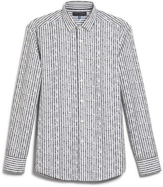 Vince Camuto Striped & Paisley-print Shirt