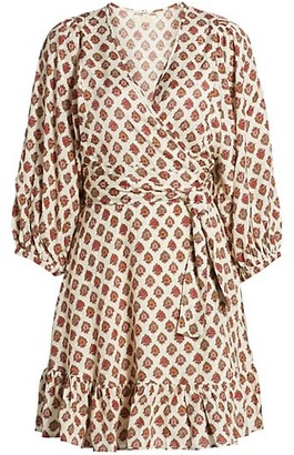 By Ti Mo Medallion Floral Wrap Dress