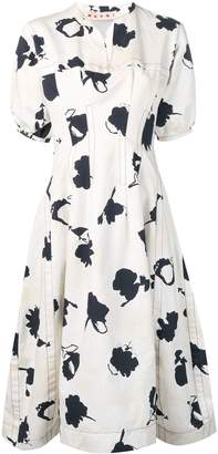Marni floral printed dress