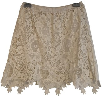 See by Chloe Ecru Cotton Skirt for Women