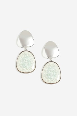 Topshop Cracked Bead Drop Earrings