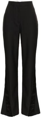 WRIGHT LE CHAPELAIN High Waisted Silk Flared Trousers