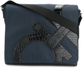 Salvatore Ferragamo embossed Gancio messenger bag