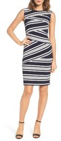 Adrianna Papell Women's Stripe Body-Con Dress