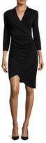 Nicole Miller Stefanie Wrapped Ruche Sheath Dress