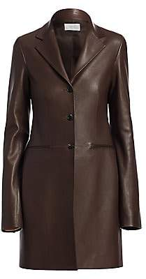 The Row Women's Nedifa Leather Coat