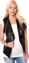 A Pea in the Pod Zipper Detail Faux Leather Maternity Vest