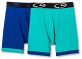 Champion Men's 2Pack Boxer Briefs - Green/Blue L