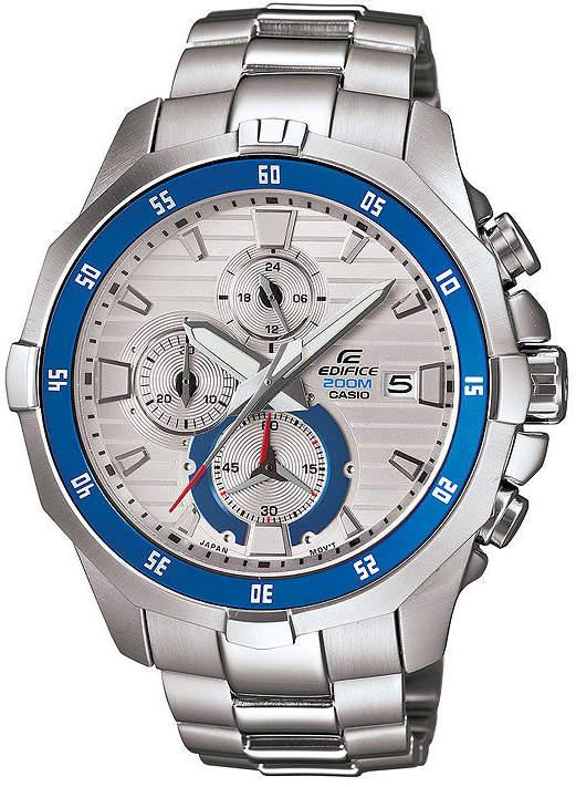 Casio Edifice Marine Mens Silver-Tone Chronograph Watch EFM502D-7A