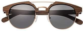 Earth Wood Kai Sunglasses W/Polarized Lenses - Walnut Zebrawood/Black