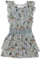 Zadig & Voltaire Skeleton Circus Printed Swiss Dot Dress