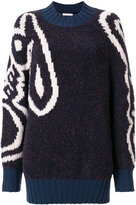 See by Chloe abstract instarsia sweater