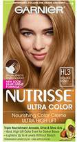 Garnier Nutrisse Ultra Color Nourishing Hair Color Creme, HL3 Golden Honey (Packaging May Vary)