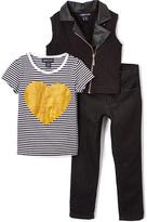 Black Heart Tee Vest & Pants - Infant Toddler & Girls