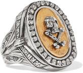 Alexander McQueen Palladium-tone Crystal Ring - Gold
