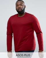 Asos PLUS Long Sleeve T-Shirt In Red